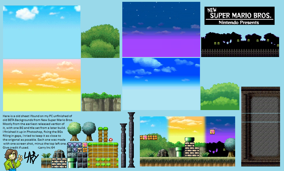 new super mario bros ds backgrounds