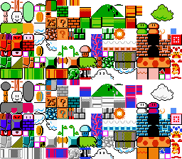 Special Pc88 Version And Mario Clock Some Other Tiles Only Used In Remakes Such As The Blocks From Super Bros Deluxe